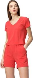 Audimas Soft Touch Modal Shorts Jumpsuit Poppy Red L