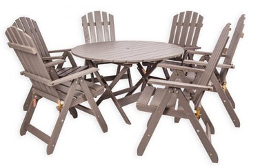 Folkland Timber Folding Garden Set Canada 6 White