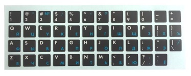 HQ Keyboard Stickers ENG/RUS White/Blue/Black