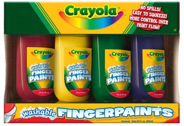 Crayola Washable Fingerpaints 4pcs
