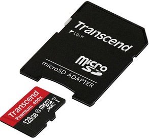 Transcend 128GB Micro SDXC Premium UHS-I Class 10 + SD Adapter