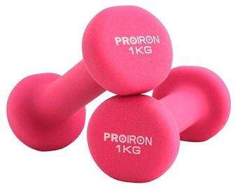 ProIron Neoprene Dumbbell Set Pink 2x1kg