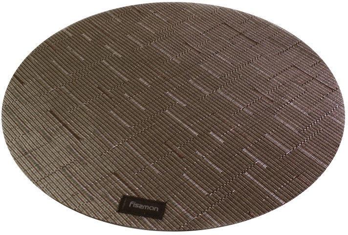Fissman Table Mat Round D36cm 4Pcs Brown 0676