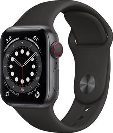 Išmanusis laikrodis Apple Watch Series 6 GPS LTE + Cellular, 44mm Aluminum Black Sport Band, pilka
