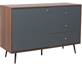Home4you Rio Chest Of Drawers 118x40x77cm Walnut/Grey