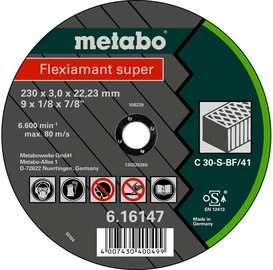 Metabo Flexiamant Super 230x3x22.23mm Stone TF41