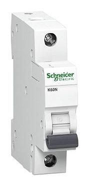 Automatinis jungiklis Schneider K60N, 1P, B, 25A, 6kA