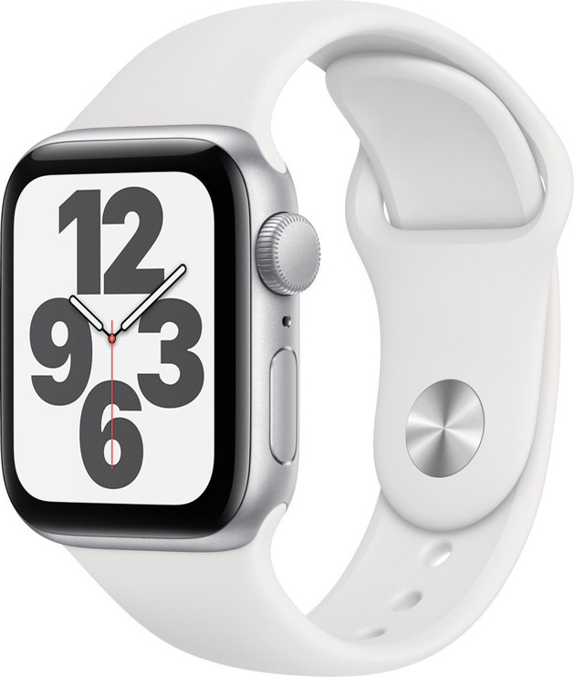 Išmanusis laikrodis Apple Watch SE GPS 40mm Silver Aluminum White Sport Band