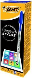 BIC Cristal Stylus Ballpoint Pens Blue 12pcs