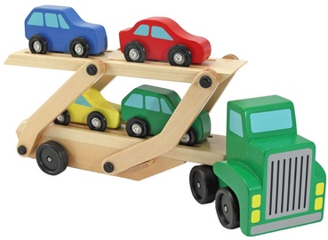 Melissa & Doug Car Carrier Truck & Cars Wooden Toy Set 4096