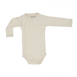 Lodger Romper Solid Body With Long Sleeves Ivory 68cm
