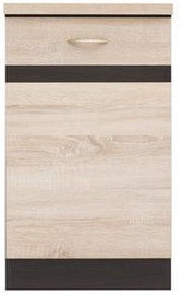 Black Red White Kitchen Bottom Cabinet Left Junona Line-D1D/50/82L Sonoma Oak/Wenge