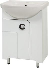 Sanservis Eliza-56 Cabinet with Basin White 56.5x85x44.5cm
