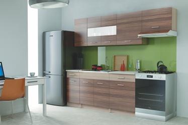 Virtuvinių spintelių komplektas Alina 240, ruda