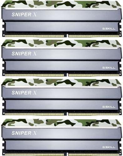 G.SKILL Sniper X Classic Camo 32GB 2400MHz CL17 DDR4 KIT OF 4 F4-2400C17Q-32GSXF