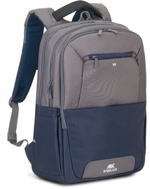 Rivacase Suzuka Steel Laptop Backpack 17.3'' Blue/Grey
