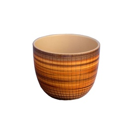 Puķu pods, keramikas 18x23cm, ar bambusa rakstu