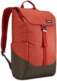 "Mugursoma Thule Lithos Backpack 16L Rooibos/Forest Night, brūna/sarkana, 15"""