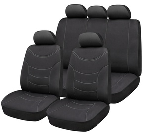 Bottari Curve Seat Cover Set Black Grey