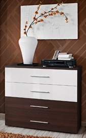 ASM Go Chest Of Drawers Wenge/White