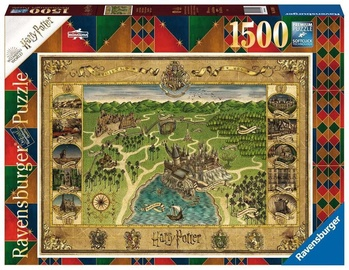 Ravensburger Puzzle Harry Potter Howarts Map 1500pcs 16599