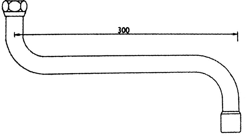 Maisītāja caurule Thema Lux CD-S002 1,8x25cm