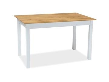 Signal Meble Horacy Extendable Table 100/140cm Wotan Oak/White Matt