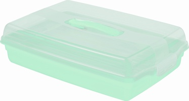 Curver Cake Transportation Box Rectangle White Blue