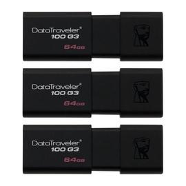 Kingston DataTraveler 100 G3 64GB Pack of 3