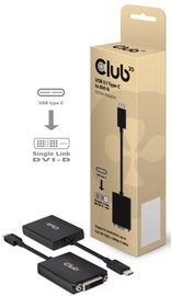 Club 3D USB 3.1 Type C To DVI-D Active Adapter Black