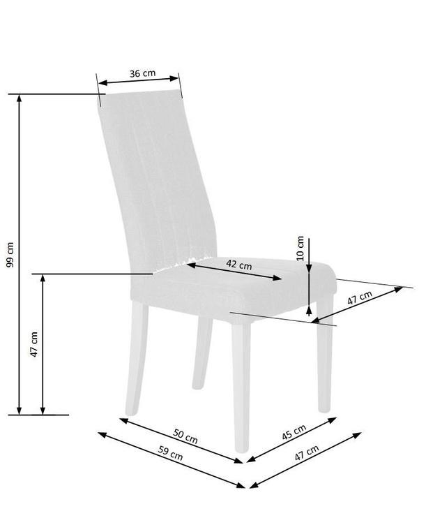Стул для столовой Halmar Diego 2 Grey, 1 шт.