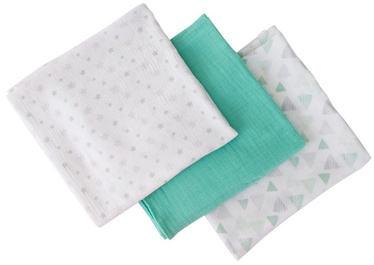 Summer Infant SwaddleMe Muslin Blankets 3pcs Triangles & Stars