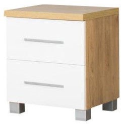 Bodzio Nightstand Panama PA42 White/Brown