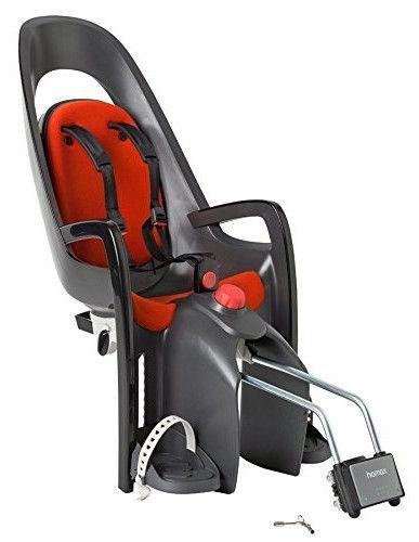 Детское кресло для велосипеда Hamax Caress With Lockable Bracket 553005, красный/серый, задняя