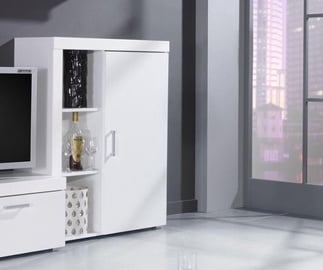 Cama Meble Samba Bookcase White/White Gloss