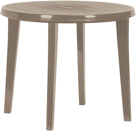 Lauko stalas Keter Lisa, kreminės spalvos, 90 x 90 x 73 cm