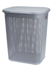 Galicja Willow Laundry Basket Light Grey 50l