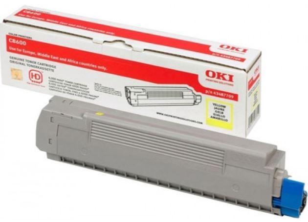Lazerinio spausdintuvo kasetė Oki 44643001 Toner Cartridge Yellow