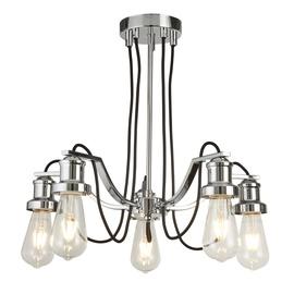 Retro stiliaus pakabinamas šviestuvas Searchlight Olivia 1065-5CC, 5 x 10W E27