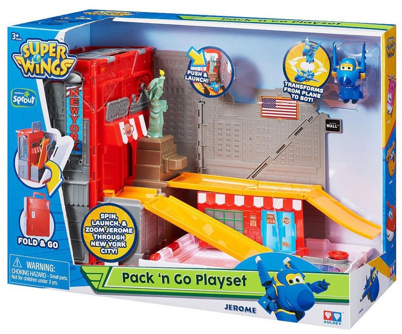 Auldey Super Wings Pack 'n Go Playset New York