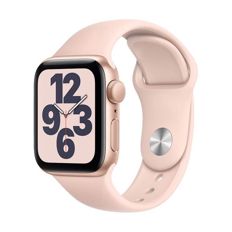 Išmanusis laikrodis Apple Watch SE GPS 40mm Gold Aluminum Pink Sport Band