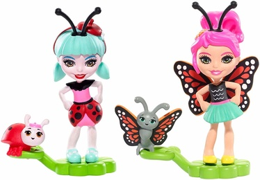 Mattel Enchantimals Baxi Butterfly & Ladelia Ladybug Micro Dolls FXM87