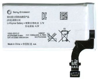 Sony 1252-3213 LT22i Xperia P Li-Ion 1265mAh