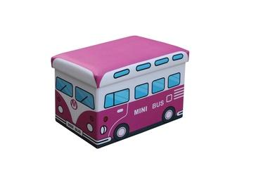 Pufas su daiktadėže Kiri rožinis, 48 x 32 x 32 cm