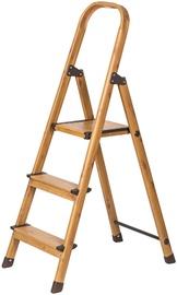 Лестница Tatkraft Aluminum 3-Step Ladder Wood Style