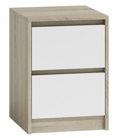 Naktinis staliukas Top E Shop K2 Karo Sonoma Oak/White