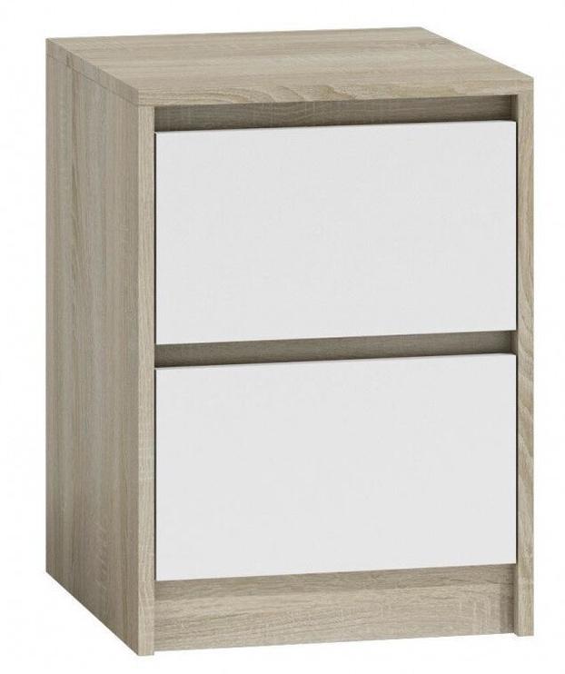 Naktinis staliukas Top E Shop K2 Karo, baltas/ąžuolo, 40x43x55 cm