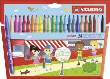 Stabilo Power Fibrepens 24pcs