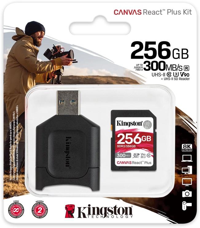 Kingston Canvas React Plus 256GB SDXC UHS-II Class 10 w/Adapter