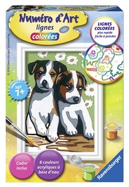 Ravensburger Painting By Numbers Two Little Puppies 295074